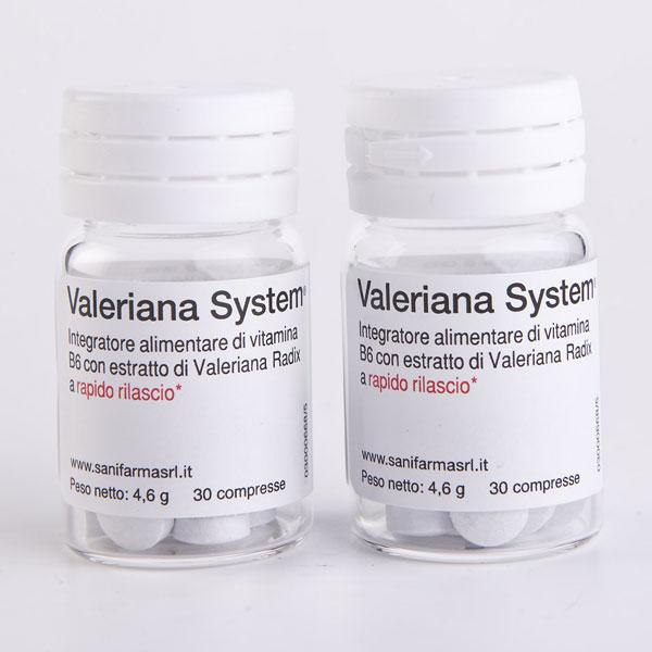 Valeriana System Forte integratore naturale contro l'ansia